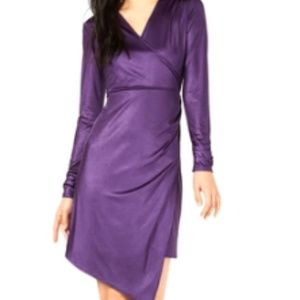 Bar III | Liquid Shine Wrap Dress